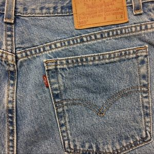 VTG Levis Mom Jeans 550 Distressed High Waist Jean